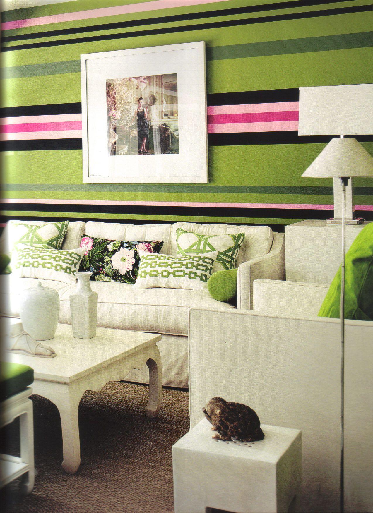 Mary MacDonald Deco Peinture, Maisons Chic, Rayures, Idée De Décoration,  Moderne,