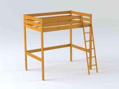 LUFE cama alta barnizada. Venta online en: www.muebleslufe.com ...