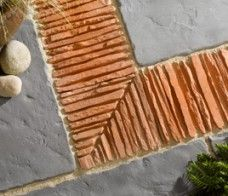 Decorative Garden Edging Tile On Edge Paving