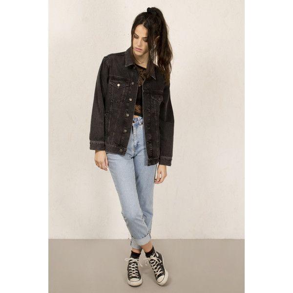 VENOM DENIM JACKET ($145) ❤ liked on Polyvore featuring outerwear, jackets, jean jacket, venom, denim jackets, pink denim jacket and pink jean jacket