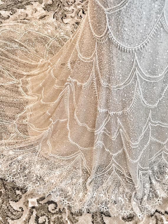 Photo of Art Deco Full Beaded Wedding Dress, Unique wedding dresses, …