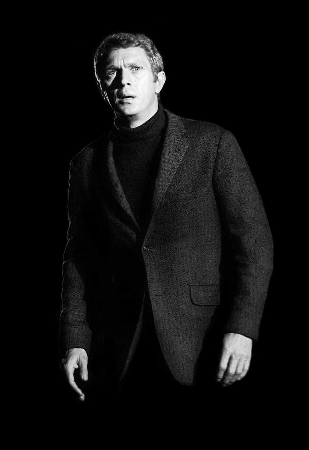 """""""I'm trying to be a sensible human being who's a credit to his profession.""""- Steve McQueen, photo by Barry Feinstein"""