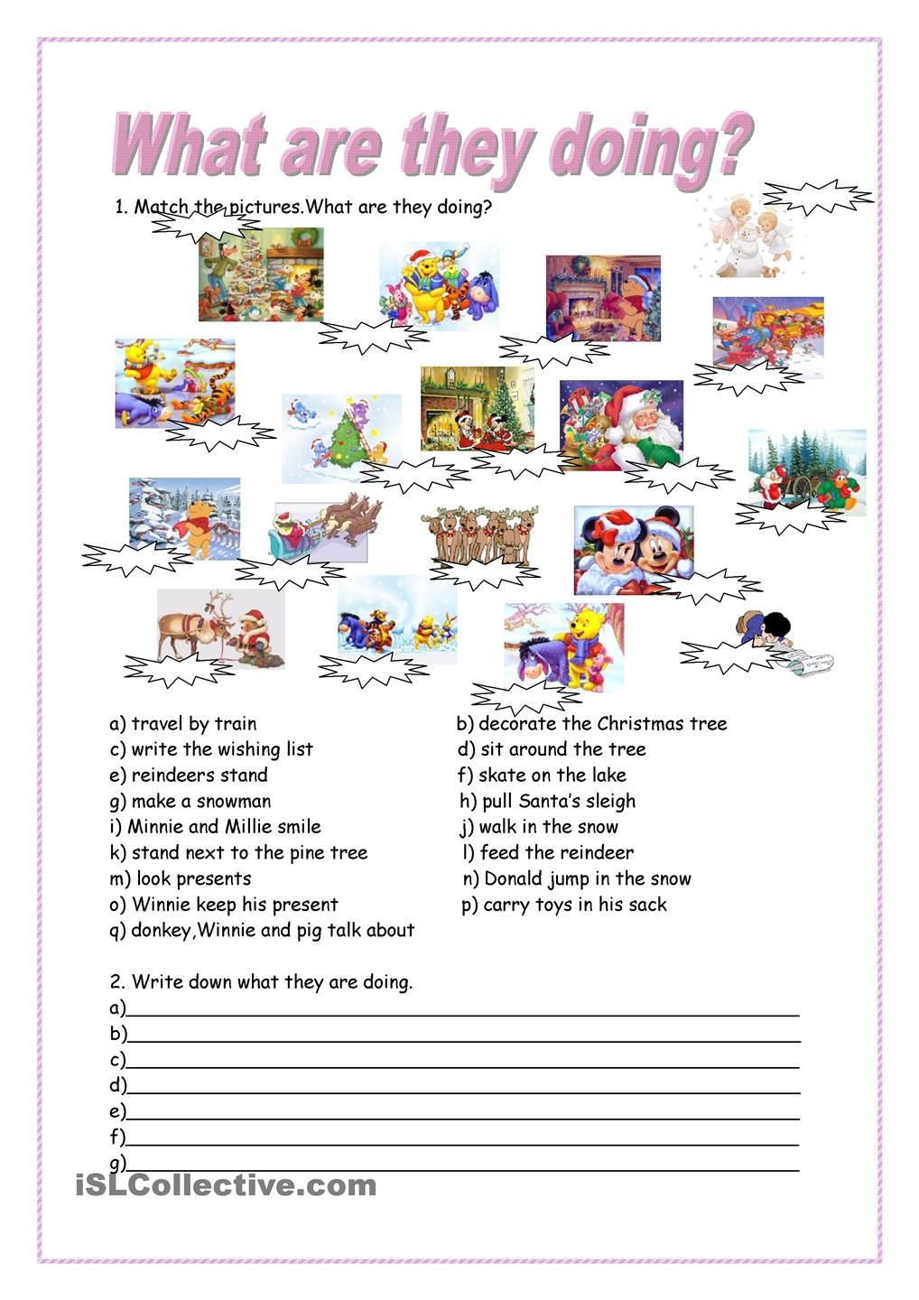 worksheet Present Progressive Worksheet 1000 images about present continuous on pinterest english student centered resources and to work