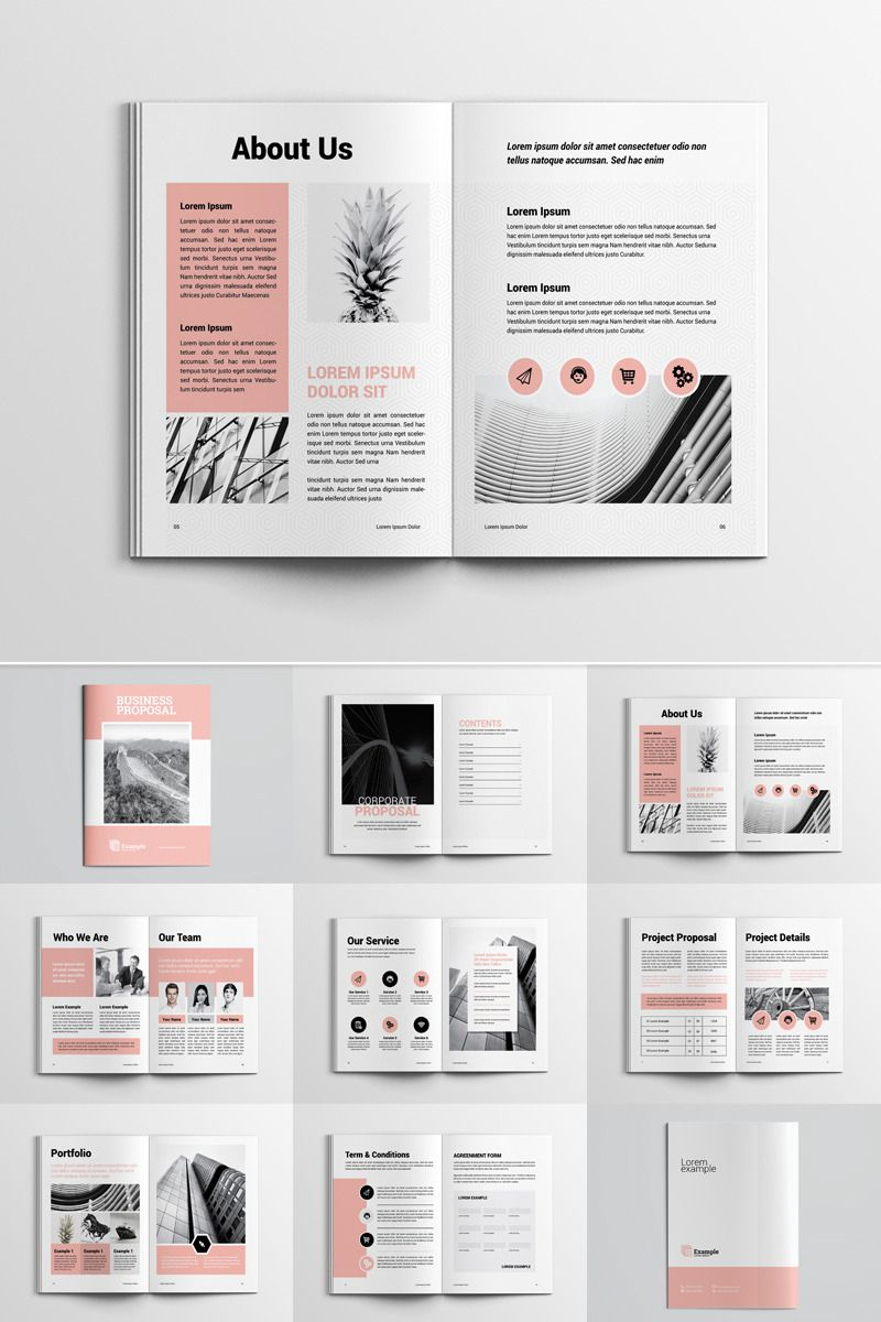 Project Proposal Corporate Identity Template #73805