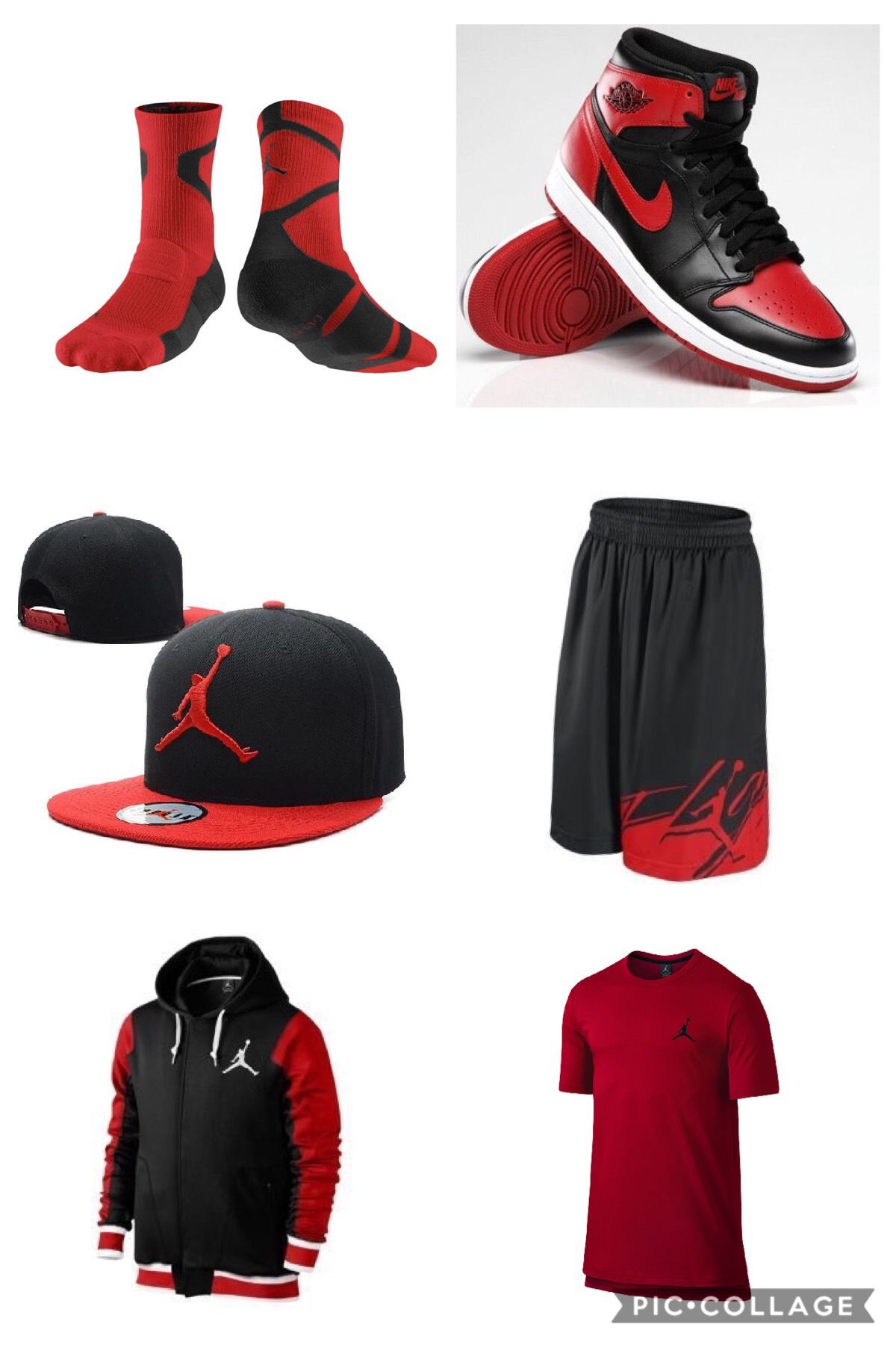 fbefac30822b4e Red Black Jordan Outfit