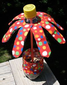Water Bottle Flowers Summer Camp Crafts And Lessons For Kids KinderArt R IN Love Doing This Sure
