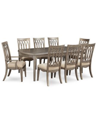 Kelly Ripa Home Hayley Dining Set Table 6 Side Chairs 2 Arm