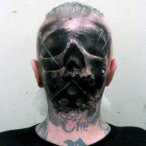 08f4a04cb 100 Head Tattoos For Men - Masculine Ink Design Ideas | tattoo ...