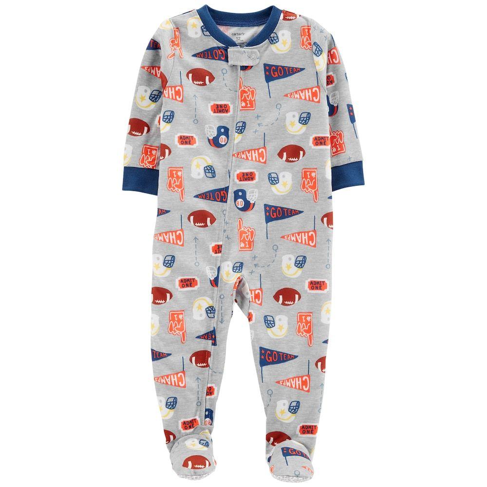 Baby Boy Carter S Sports Footed Pajamas Size 12 Months Print Carters Baby Boys Baby Boy Pajamas Baby Pajamas