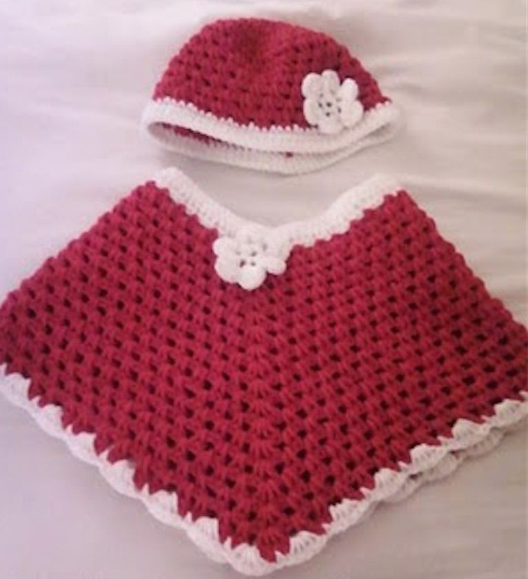 Crochet Baby Santa Dress Pattern Is So Cute | Free crochet, Ponchos ...