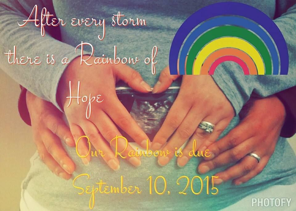 Rainbow Baby Announcement Anuncios Embarazo Y Bebe