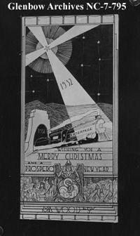 Image No Nc 7 795 Title Christmas Card Sent By Edward J Wood