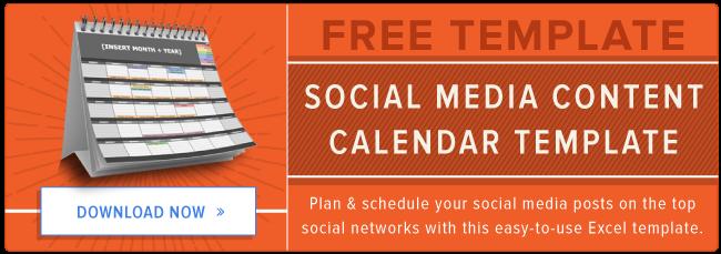 Free Social Media Content Calendar Template  Marcomm