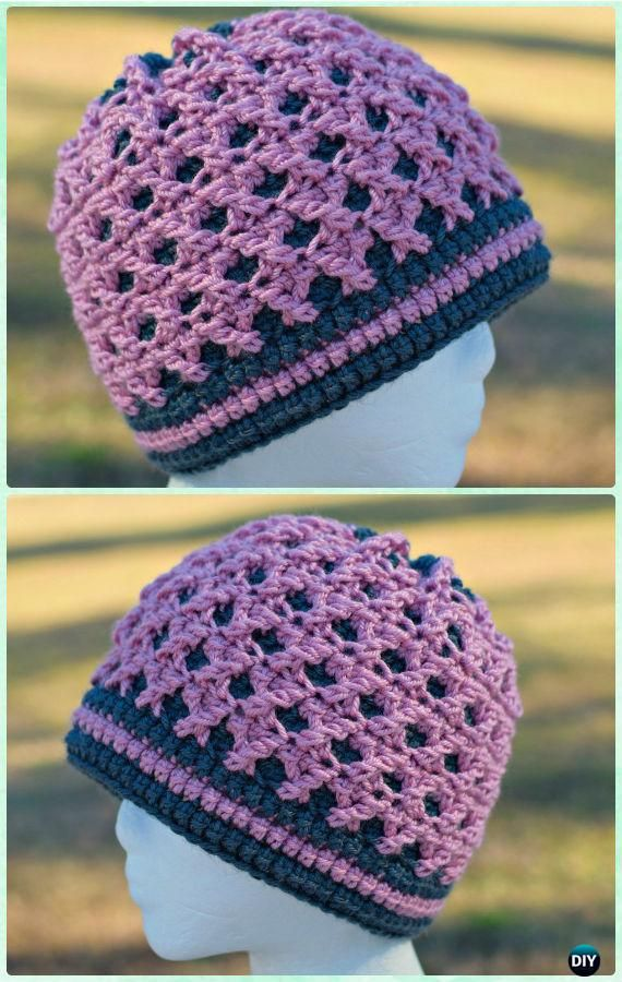 DIY Crochet Beanie Hat Free Patterns Baby Hat Winter Hat | Patrón ...
