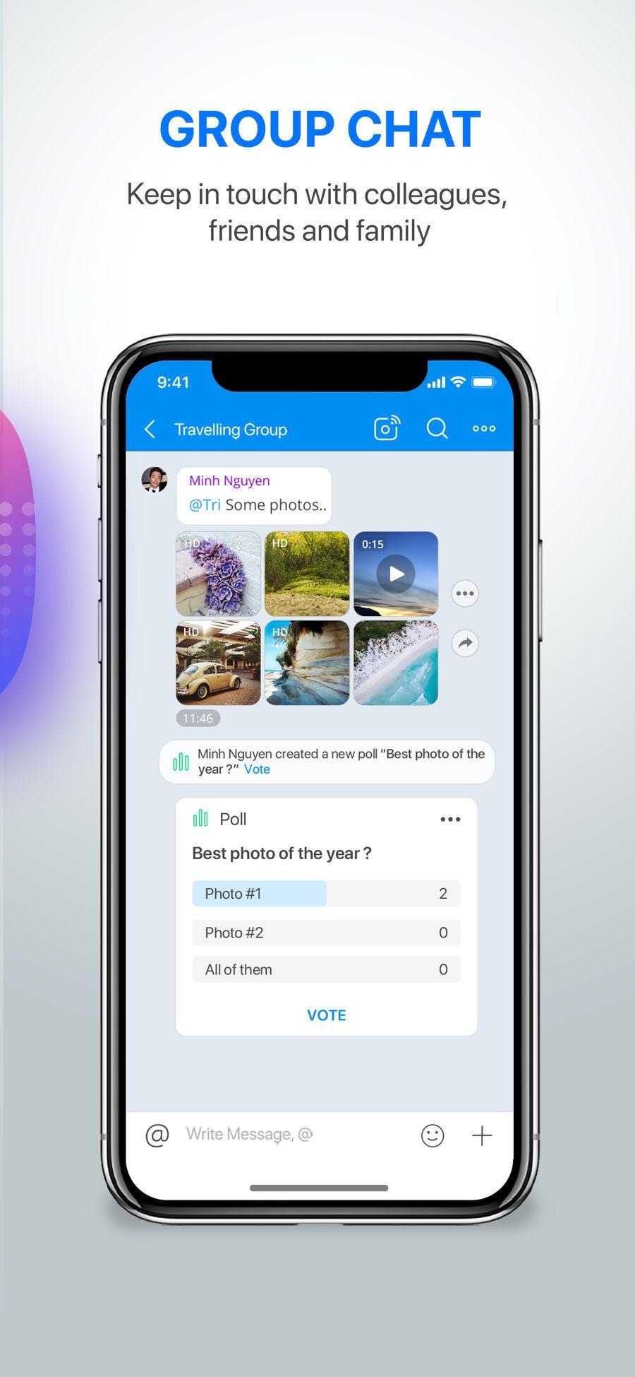 Zalo iosEntertainmentappapps App, Create a poll