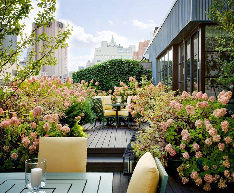 Terraza Y Flores Jardin En Balcon Patio Y Jardin Huerto Urbano