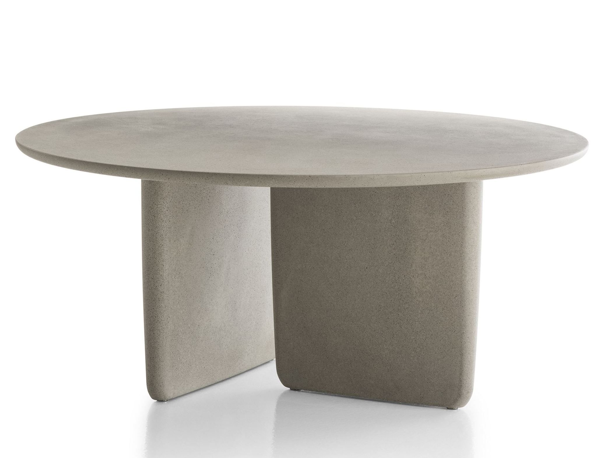 Cabrera Concrete Round Dining Table Modern Outdoor Table Round