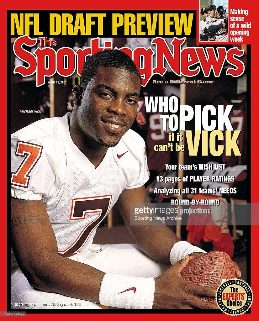 Virginia Tech Hokies QB Michael Vick April 16, 2001. Who