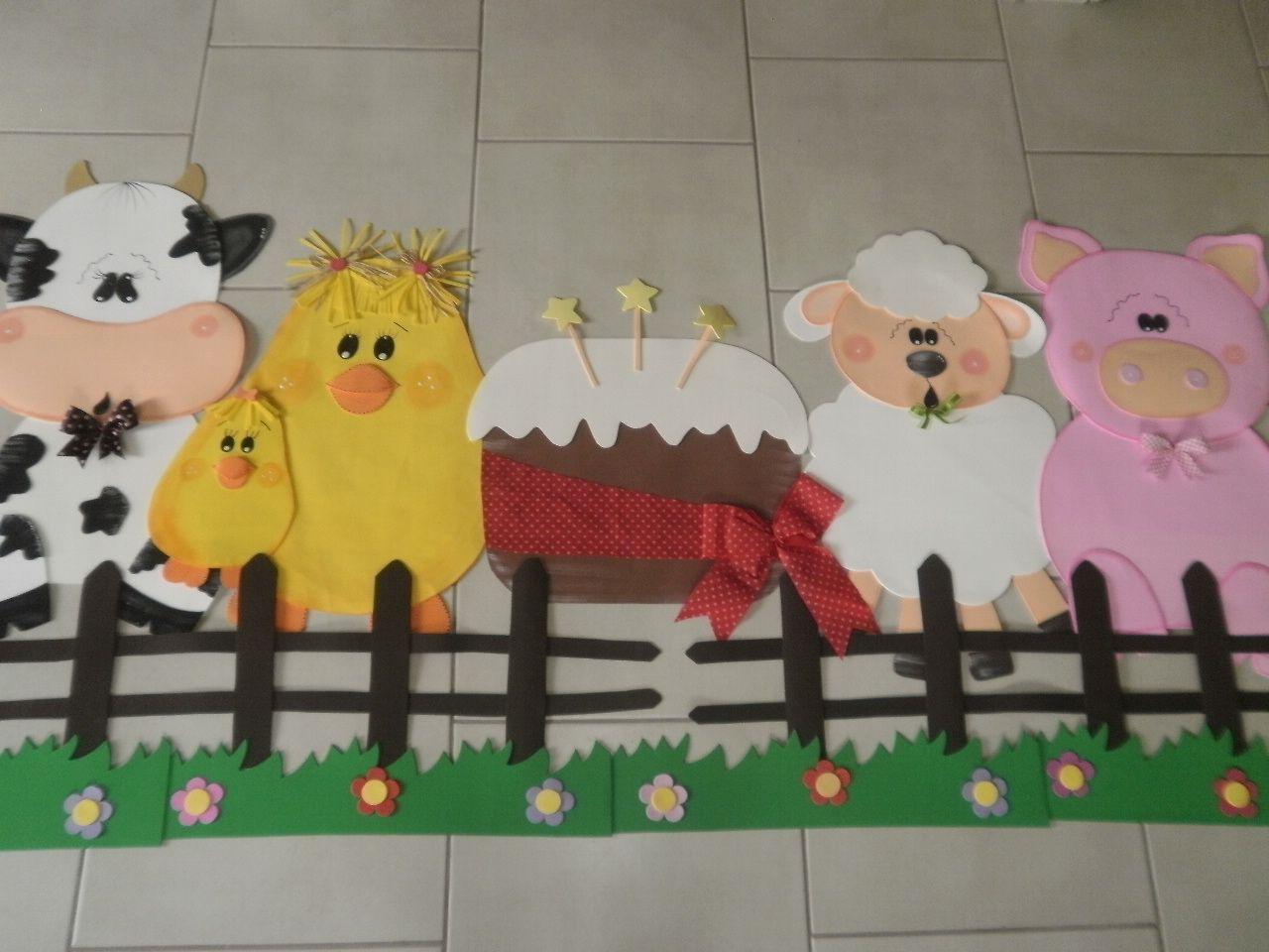 Painel Aniversariantes Bichos Da Fazenda Com Imagens Animais