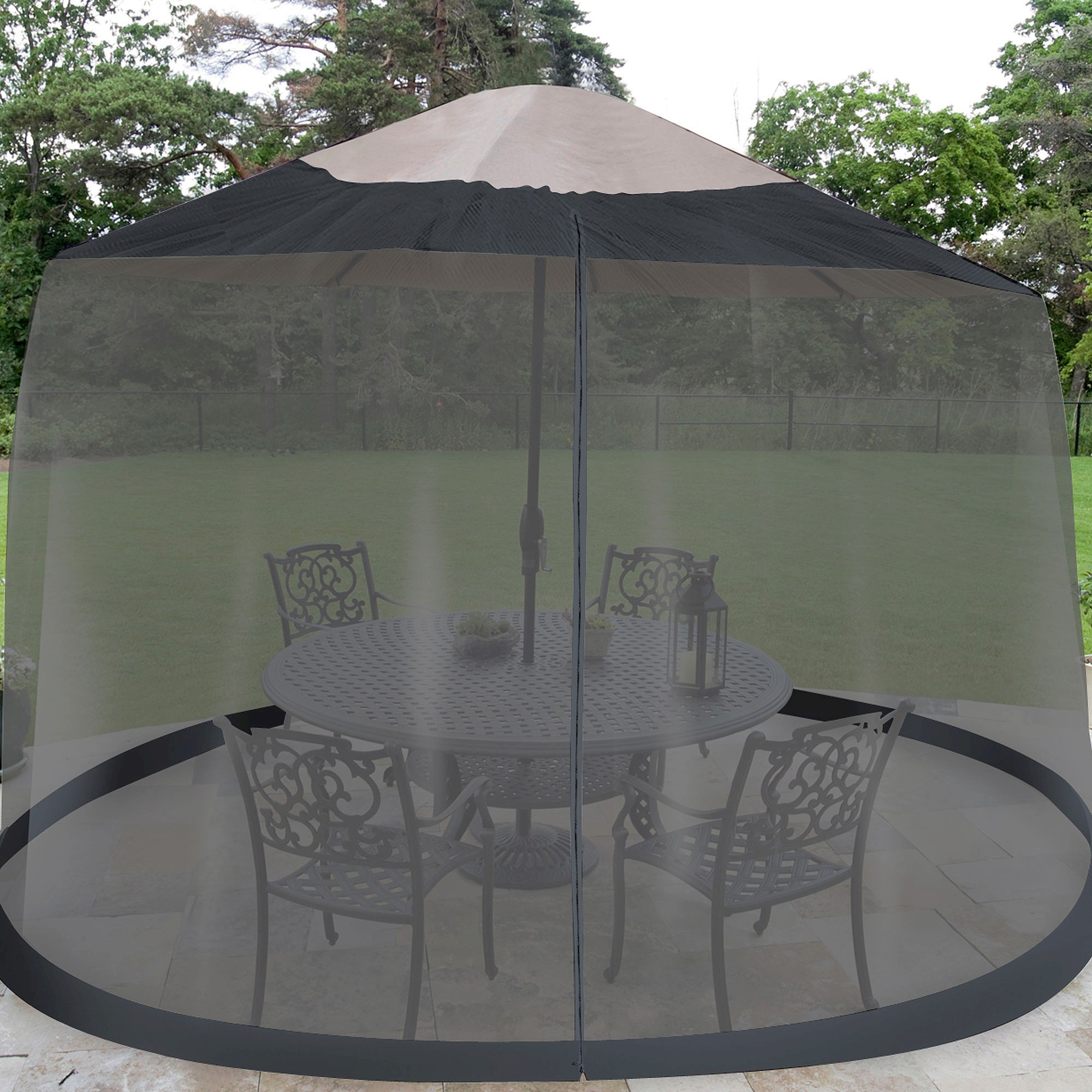 of for front mosquito swing images curtains and netting home luxury net ideas best patio umbrella porch
