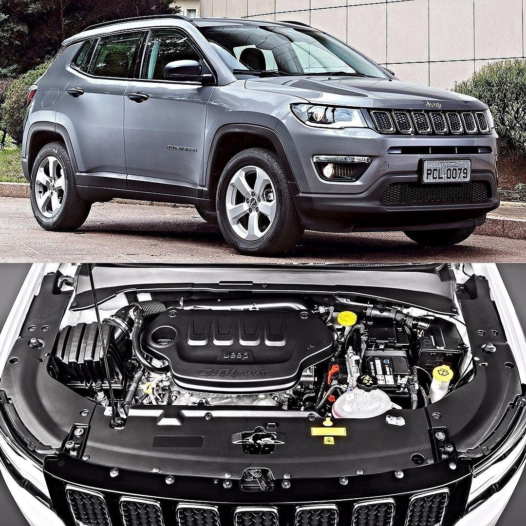 Jeep Compass Used Car: Jeep Compass Sport 2.0 Flex 2017 Linha Compass Ficou