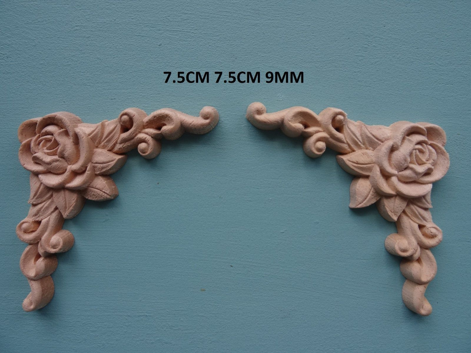 Decorative Wooden Scroll Corners X 2 Appliques Furniture Mouldings Onlay  Wk23 #ebay #Home U0026 Garden