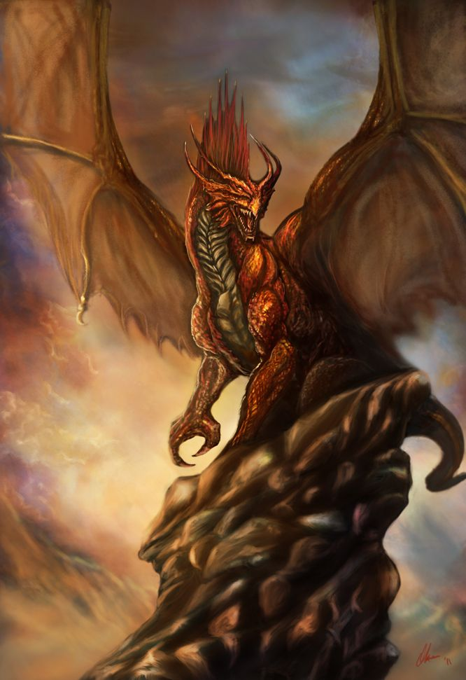dragon approaching | 30 awesome red dragon artworks 1dut.com (8)