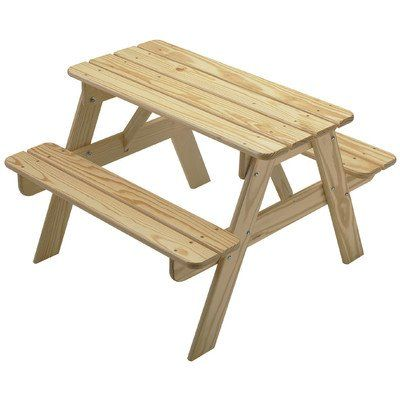 Little Colorado Child S Picnic Table Unfinished Kids