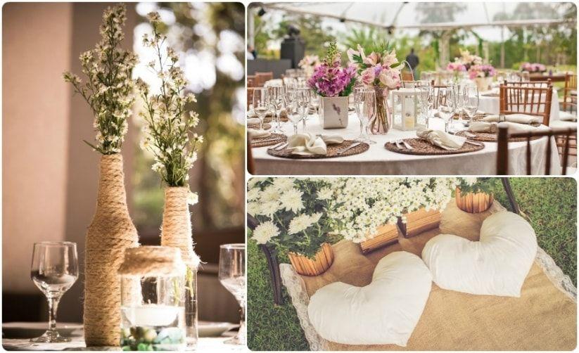 Como decorar casamentos em ambiente aberto mais de 50 ideias inspiradoras Decoracao simples  -> Decoração Para Festa De Casamento Em Sitio A Noite