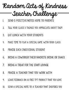 Student Teaching Resume Random Acts Of Kindness Teacher Challenge  Work Ideas  Pinterest