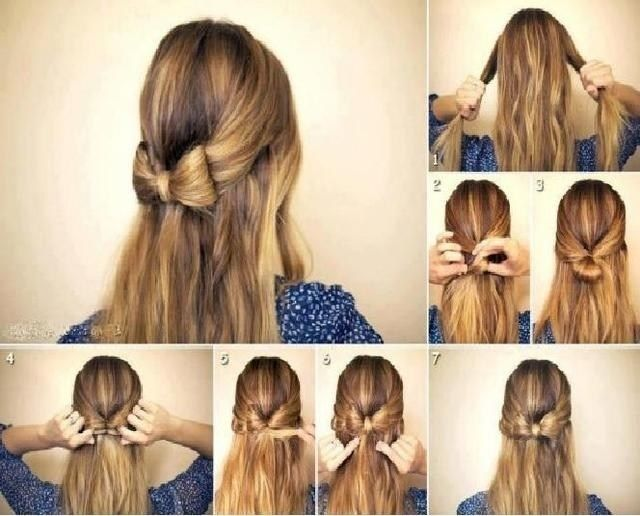 Hairstyles For School Easy Bow Hairstyle Thick Hair Styles Long Length Hair