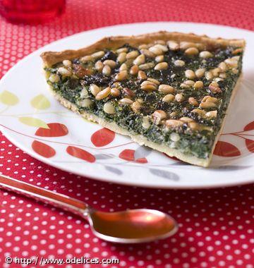 Tarte niçoise aux blettes et pignons de pin - Recettes de cuisine de Provence