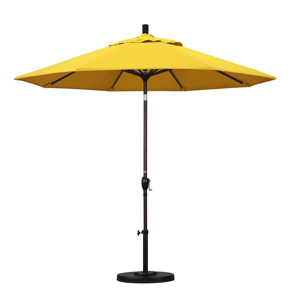 California Umbrella 9 Ft Aluminum Push Tilt Patio Umbrella In