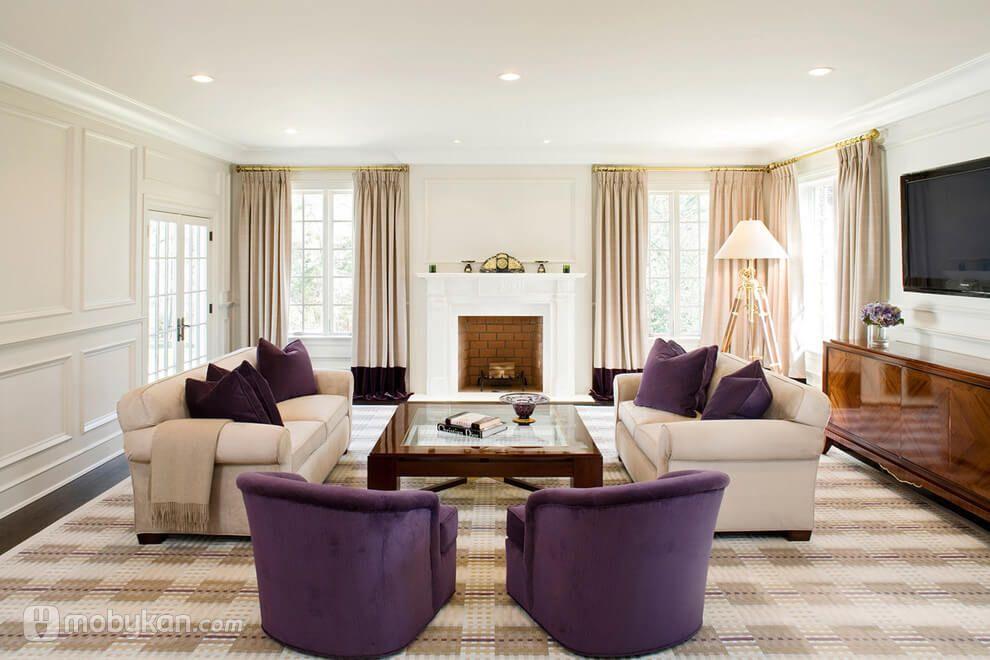 غرف معيشه مودرن بعض الخطوات و النصائح المختلفه بالصور من موبيكان Living Room Decor Purple Purple Living Room Gold Living Room