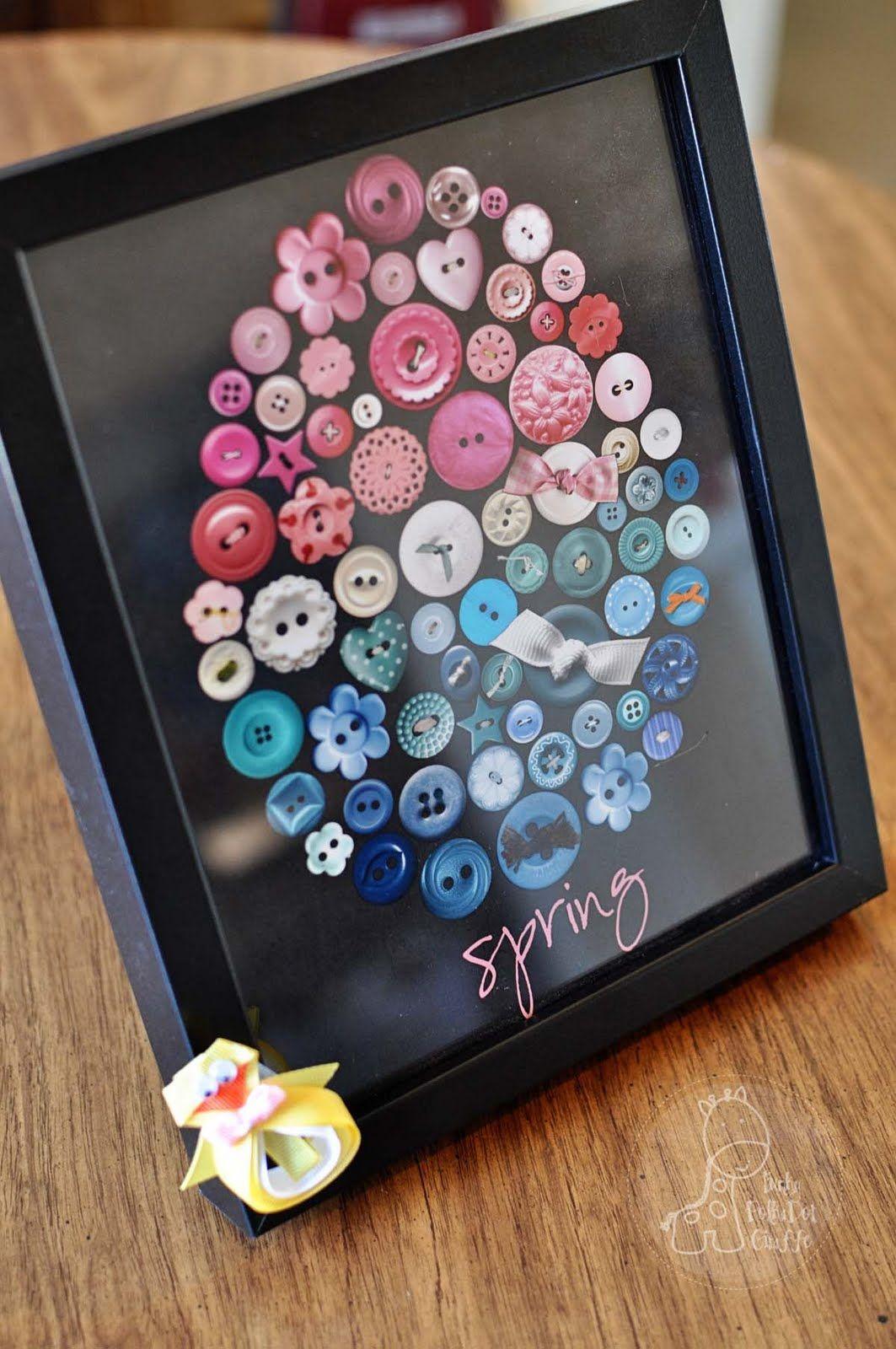 rainbow button craft an easter egg craft pinterest button art