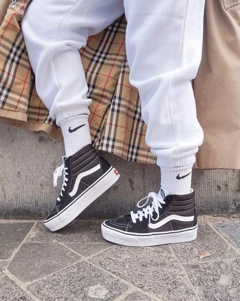 zwarte vans sneakers sk8 hi platform - Omoda   Vans sneakers ...