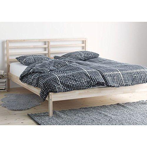 ikea tarva full size bed frame solid pine wood brown ikea. Black Bedroom Furniture Sets. Home Design Ideas