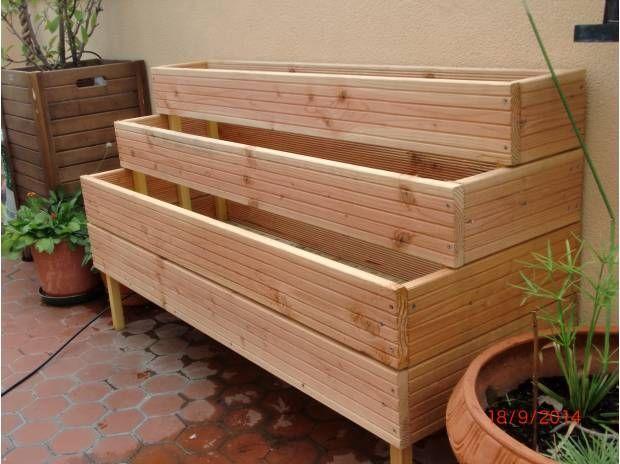 Jardinière en bois autoclave à étages - Nimes - 30000 - Matériel pas cher d'occasion - Vivastreet