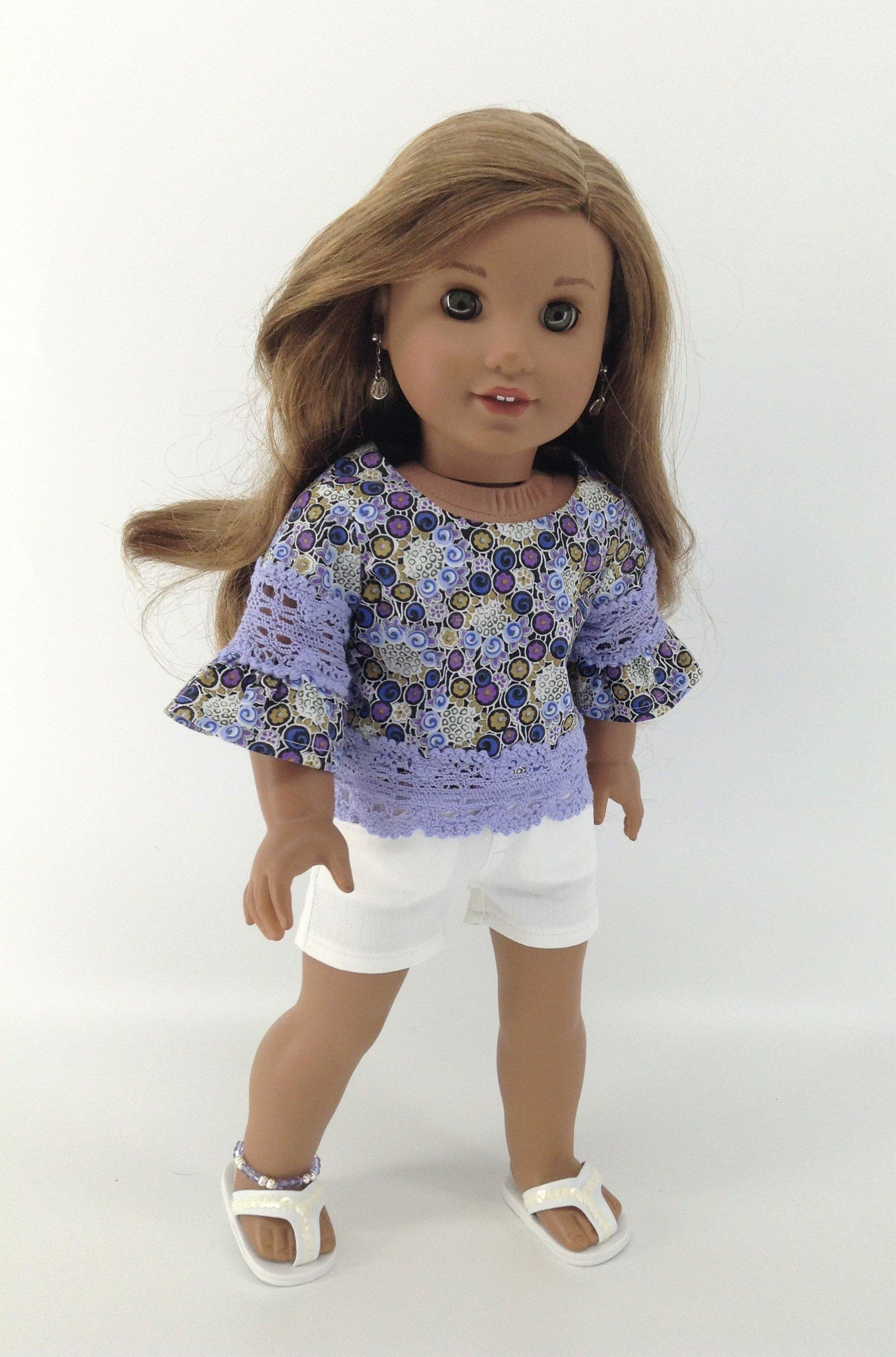 "Cute Denim Mini Skirt Fits American Girl Dolls /& Luciana 18/"" Doll"