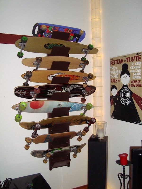 How To Build A Longboard Shelf | Longboard And Skateboard Shelf
