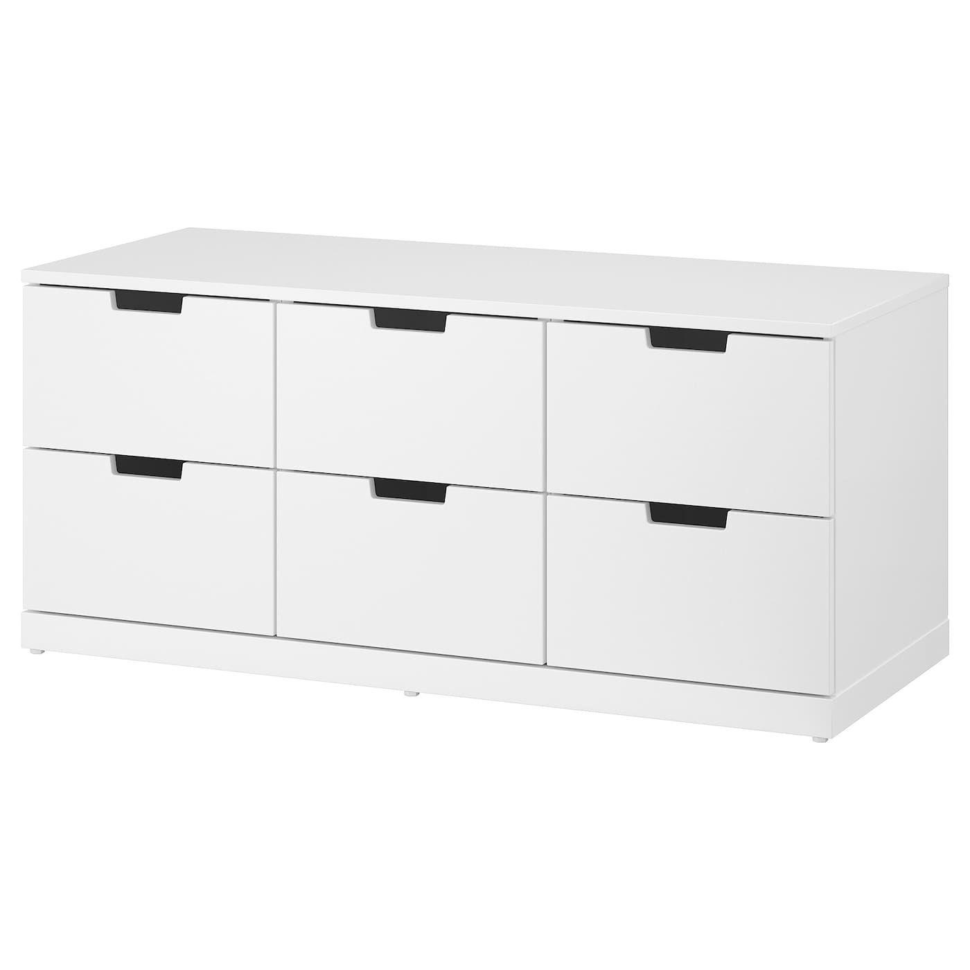 Nordli Commode 6 Tiroirs Blanc Commode 6 Tiroirs Tiroir Et Commode Ikea