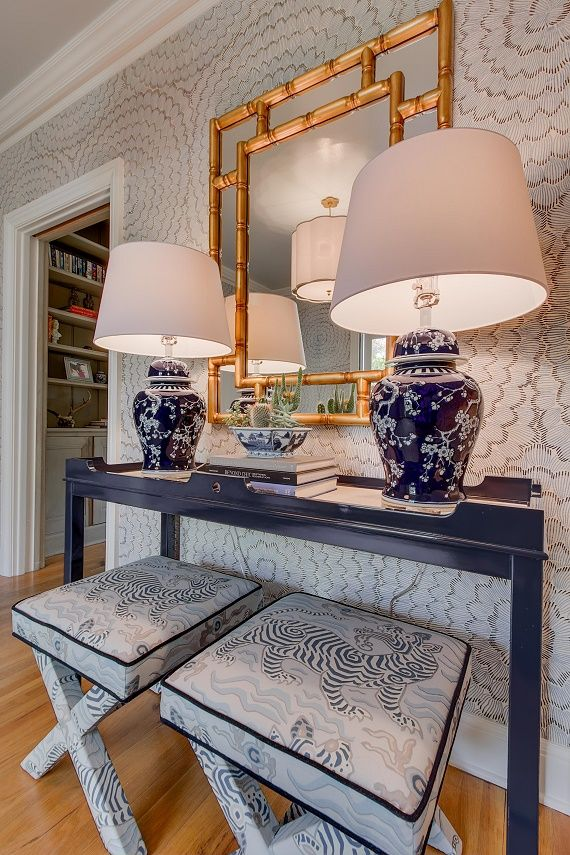 Chinoiserie Foyer Design By Simplifiedbee Foyer Decorating Foyer Design House Design