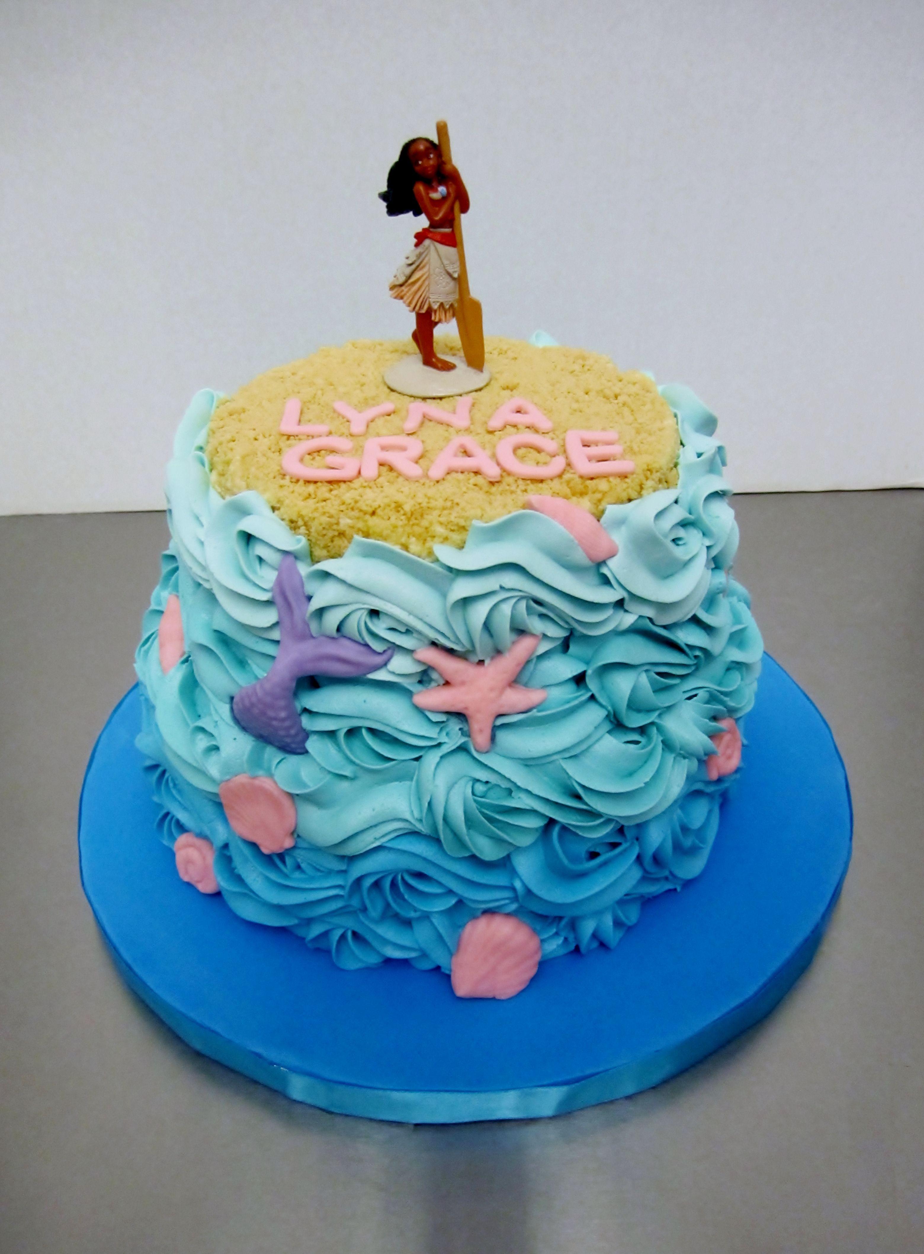 2 Tier Moana Cake
