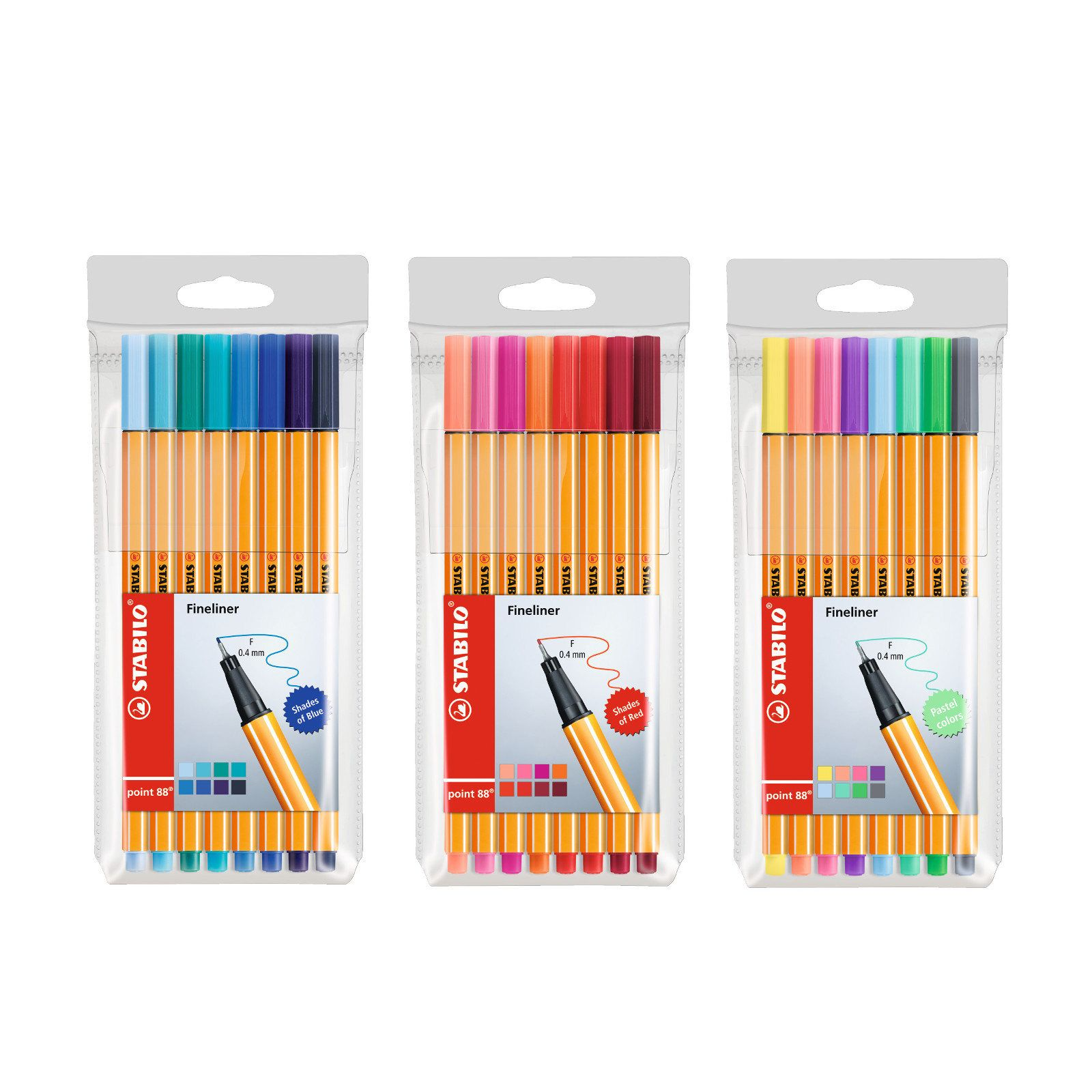 0.4mm Coloured Fineliner Pens 40 PACK Precision Technical Drawing Art Craft Fine