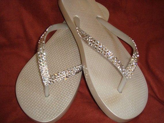 8191662e290a Swarovski Crystal Rhinestone Flip Flops by GemmaStoneJewelry ...