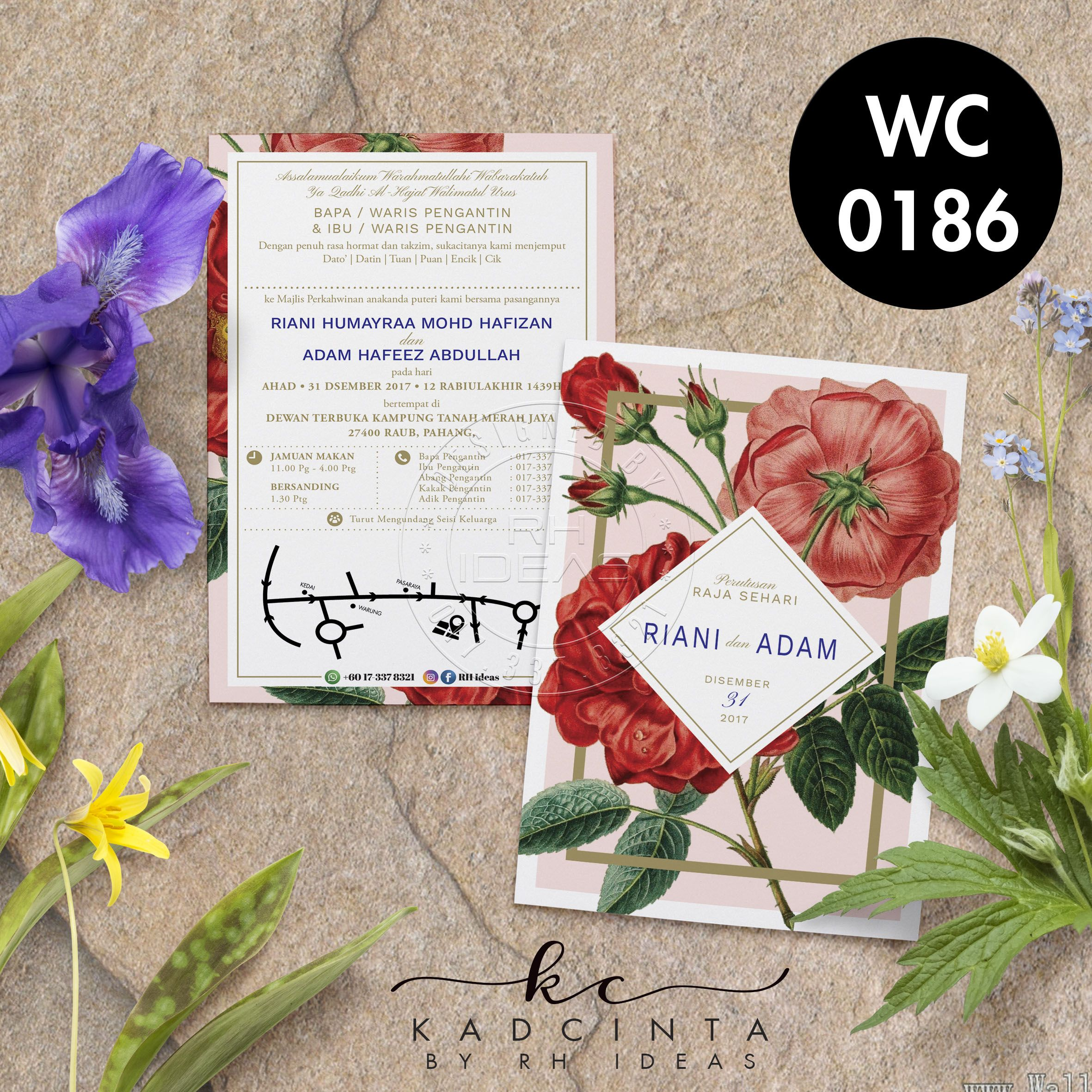 Kad Kahwin Wc0186 Wedding Cards Kad Kahwin Wedding