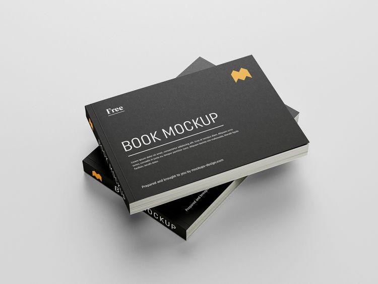 Landscape Book Free Psd Mockup Mockup Free Psd Design Mockup Free Mockup Psd