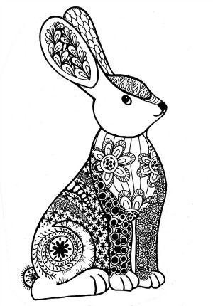 kleurplaat konijn en libelle