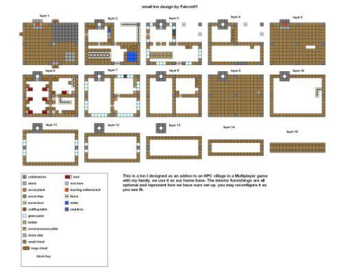 minecraft floorplans small inn | stuff to buy | pinterest
