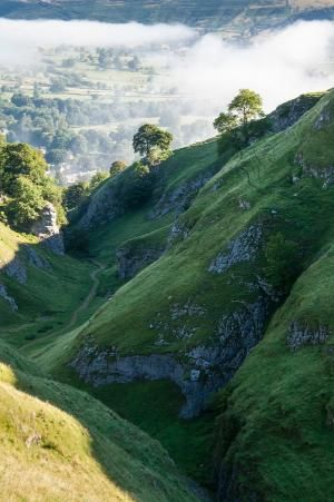 Cave Dale (sometimes spelt Cavedale) is a dry limestone valley in the Derbyshire Peak District, England. by Pikssik